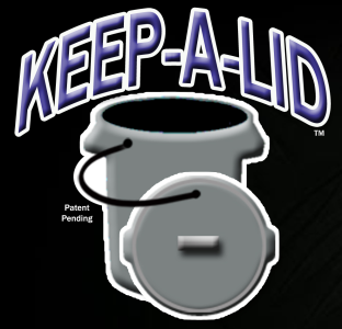 Keep-A-Lid Trash Can Tether Logo - Garbage Can Lid Keeper